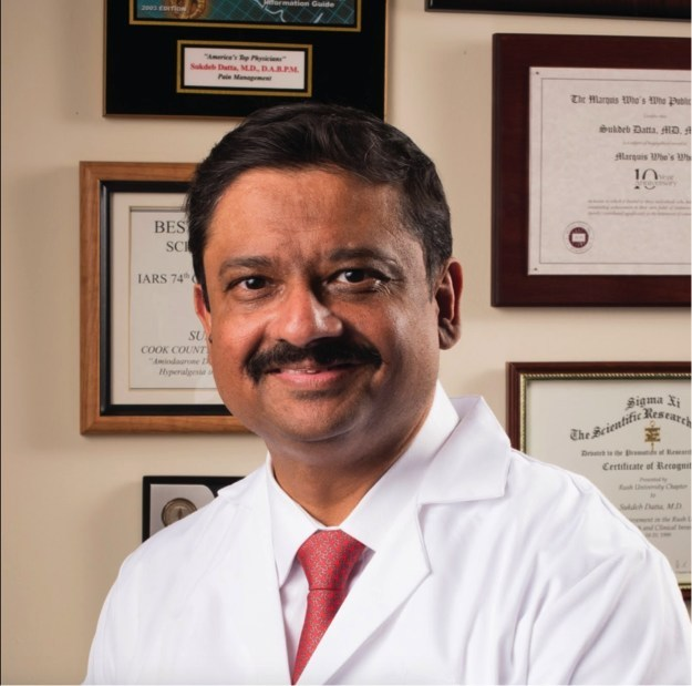 Dr. Sukdeb Datta, M.D. C.E.O and Medical Director of Datta Endoscopic Back Surgery and Pain Center