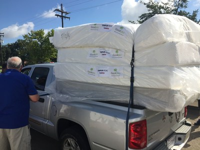 In this photo from a previous Tempur Sealy/Good360 donation event, a resident impacted by a hurricane received Tempur-Pedic mattresses donated by the company.