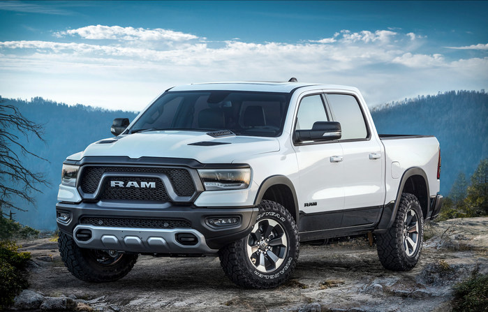 """New 2019 Ram 1500 """"Rebel 12"""" features exclusive Uconnect 12-inch touchscreen, leather interior and 900-watt sound system (PRNewsfoto/FCA US LLC)"""