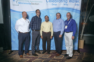 Pictured left to right: Lynn Bruns, PE, LEED AP, Executive Vice President; Andy Brandel, PE, Vice President; Uma Vempati, PE, PMP, ENV SP, Associate Principal and Water Solutions Group Leader; Tom Brown, Operations and Facilities Planning; Walter Eshenaur, PE, Project Manager