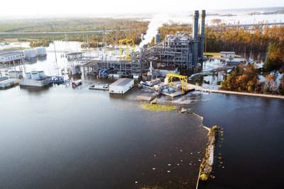 Cape Fear River flooding damages Sutton Lake, causes safe shutdown of natural gas plant
