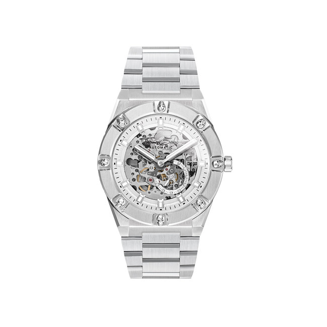 This new Rebel Automatic Skulleton watch expresses what the Rebel at heart Collection line from THOMAS SABO is all about. The iconic skull design codes fit harmoniously into the distinctive stainless steel timepiece whose movement can be seen from both sides through a skull-shaped glass hand-fitted using the finest craftsmanship