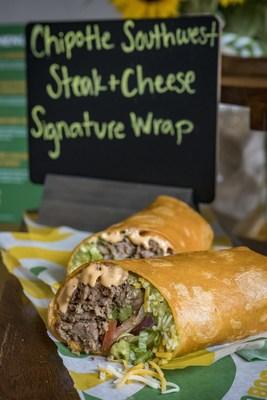 Chipotle Southwest Steak & Cheese Signature Wrap: Subway(r) restaurants Steak Collection also features savory Chipotle Southwest Steak & Cheese Signature Wrap.