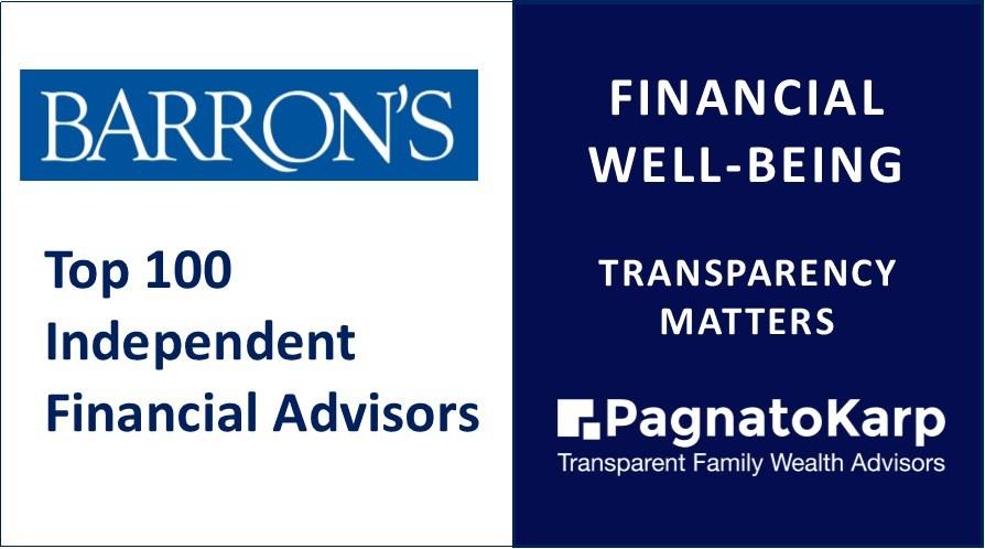 PagnatoKarp Ranked #16 Barron's Top Independent Financial Advisor