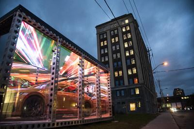 Volkswagen's #LifeinSmartLuxury portal exhibit at the Museum of Contemporary Art Toronto (CNW Group/Volkswagen Canada Inc.)