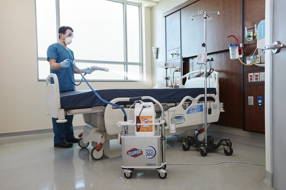 The Clorox® Total 360® System enables superior surface coverage and helps healthcare facilities clean and disinfect faster and more efficiently.