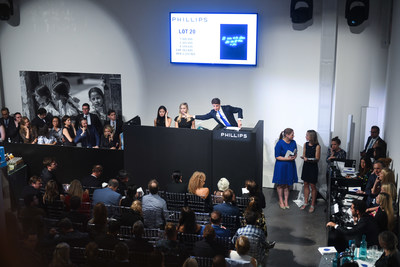 International water foundation One Drop hosted Art for One Drop, a contemporary art auction, in partnership with Phillips Auction House on Friday, September 21, 2018 in New York City that raised $8,797,600 to benefit One Drop's life-changing work in Latin America. (PRNewsfoto/One Drop)
