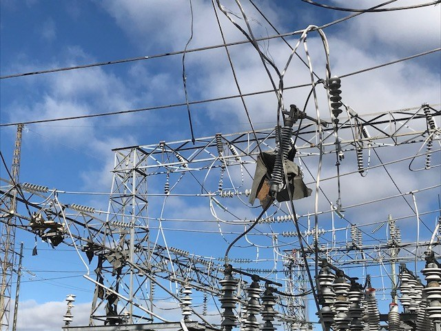 Damage at Hydro One's Merivale Transmission Station (CNW Group/Hydro One Inc.)
