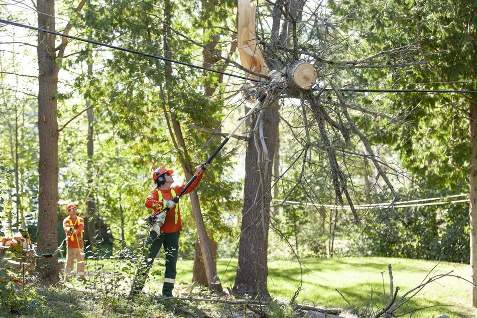 Hydro One worker restoring power (CNW Group/Hydro One Inc.)