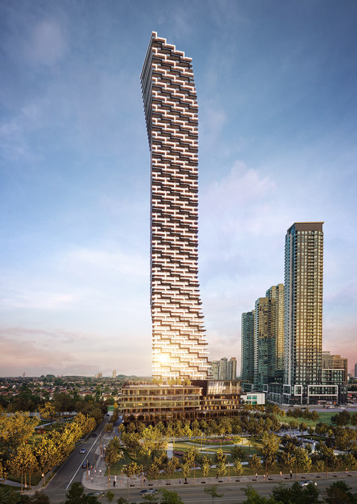 M3, the third tower of the M City community, will rise to 81 storeys, becoming the tallest tower in Mississauga and one of the tallest in the Greater Toronto Area. (CNW Group/Rogers Real Estate Development Limited)