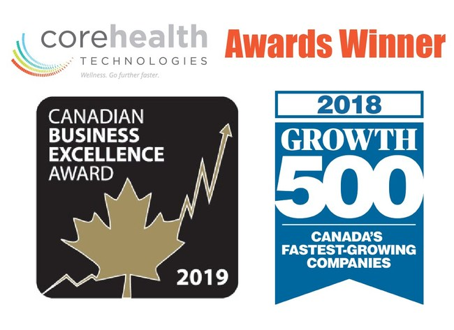CoreHealth recognized by Canadian Business Excellence and Growth500.