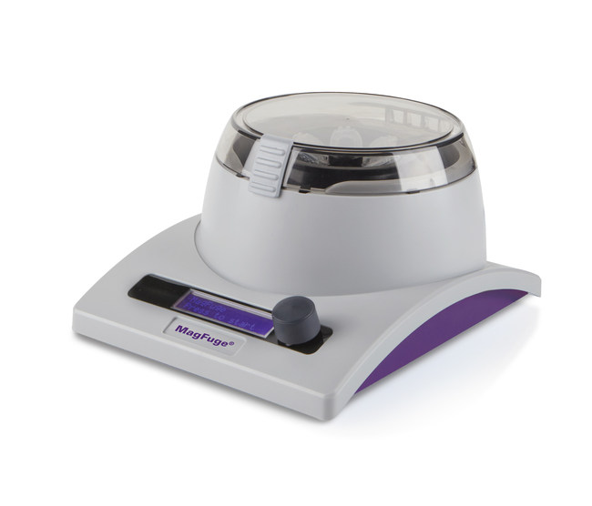 MagFuge by Heathrow Scientific, a first-of-its-kind high-speed centrifuge and magnetic stirrer in one unit.