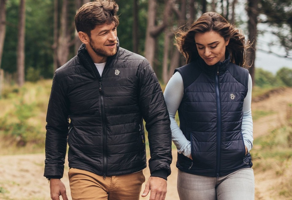 8K unveil the first collection of heated apparel on earth that allow you to control your temperature from your smartphone and charge your devices on the go. (PRNewsfoto/8K Flexwarm)