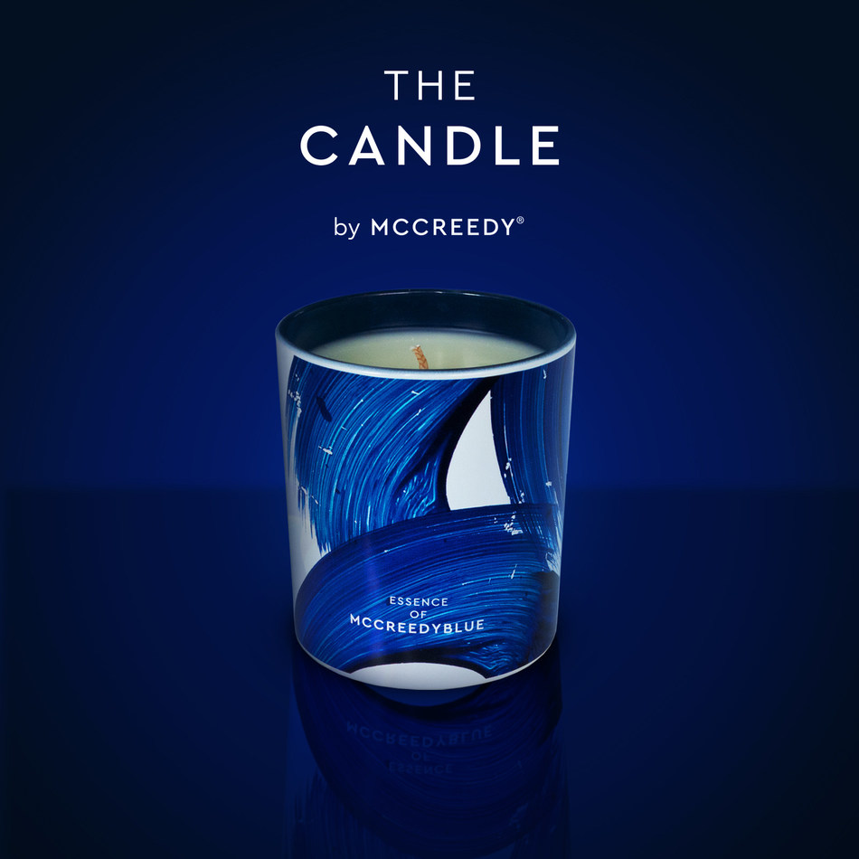 (The first candle in the world to smell like the colour blue) Available now (PRNewsfoto/MCCREEDYWORLD)