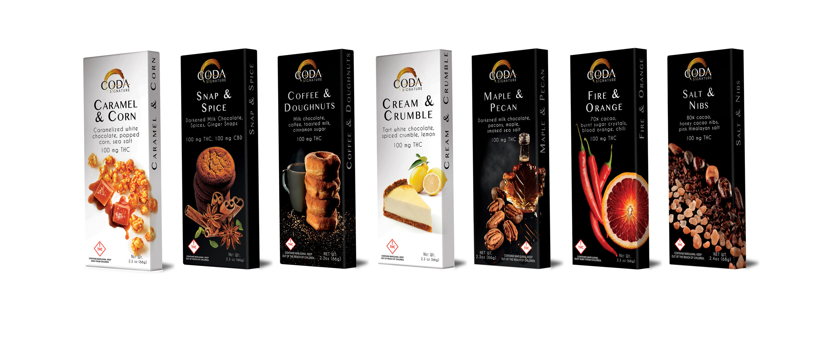 Coda Signature's Handcrafted Infused Chocolate Bars