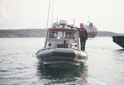 The Inshore Rescue Boat crew in Rankin Inlet spent over 103 hours on the water this season. (CNW Group/Canadian Coast Guard)