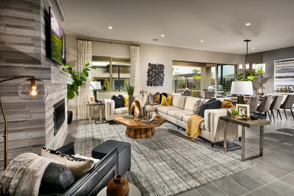 Great Room View Of a Trilogy Model Home