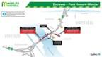 Pont Honoré-Mercier - Fermetures partielles de fins de semaine – Automne 2018 (Groupe CNW/Ministère des Transports, de la Mobilité durable et de l'Électrification des transports)
