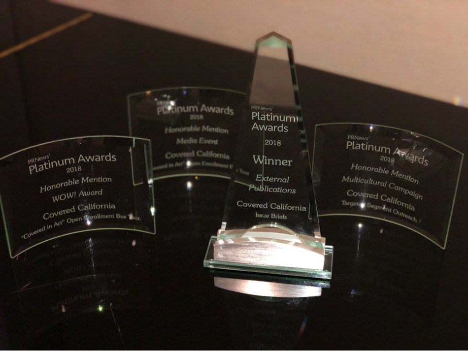 Covered California won the External Publications category and was recognized in three additional categories at the 2018 PR News Platinum Awards.