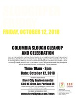 Parkrose Businesses Host Columbia Slough Clean-Up, Celebration of Local Improvement District Infrastructure Upgrades