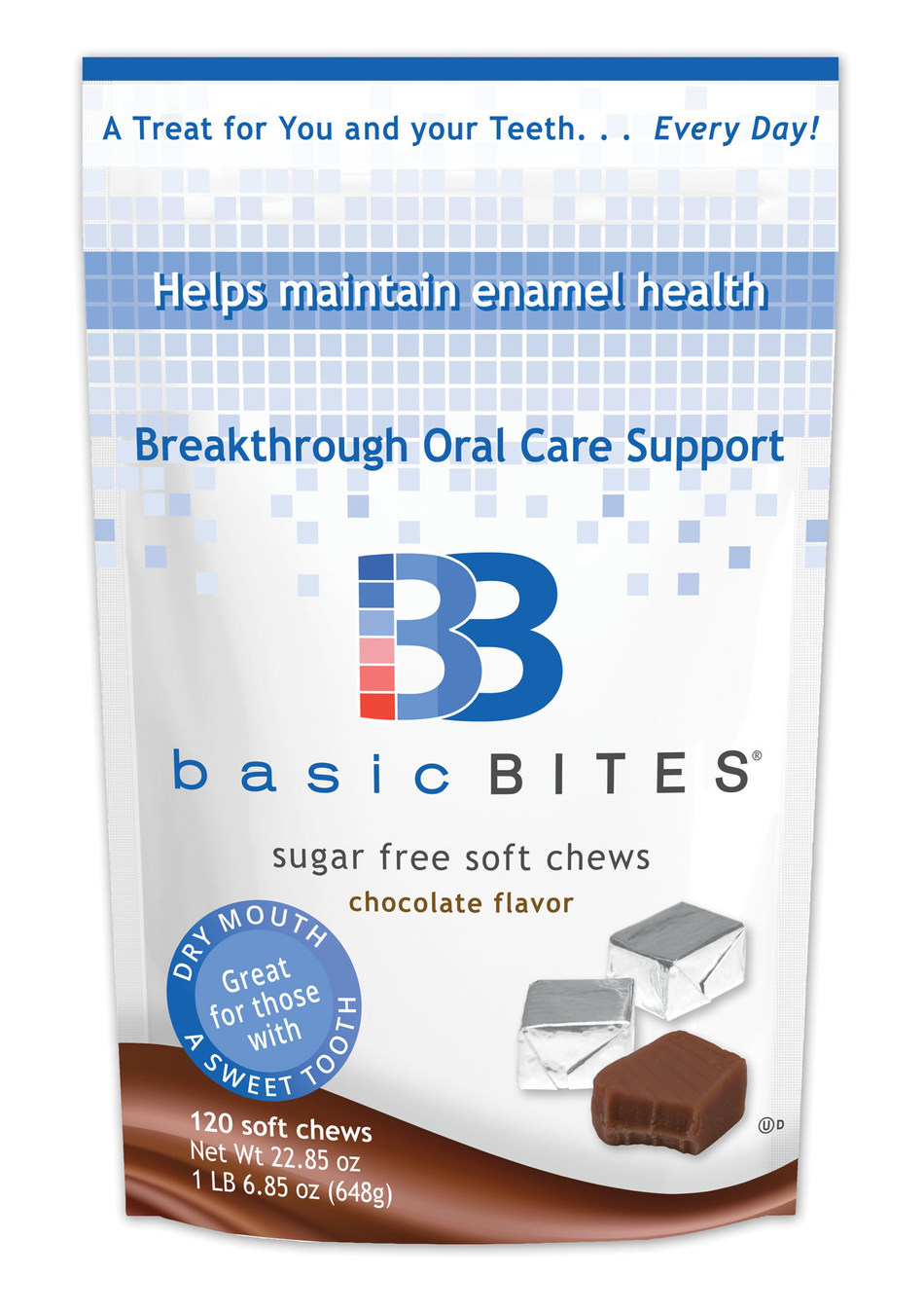 Delicious BasicBites are clinically shown to help maintain enamel health.