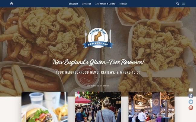 Gluten-Free New England's brand new website