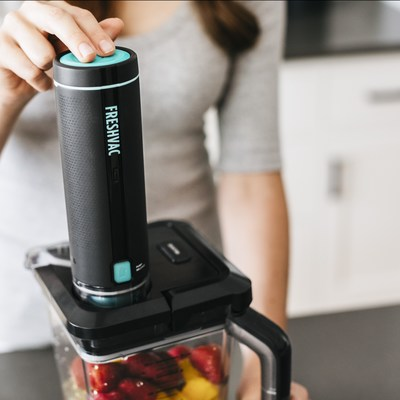 Ninja's new FreshVac Technology is designed to reduce ingredient and vitamin oxidation because it pumps oxygen out and locks vitamins in before blending even begins.