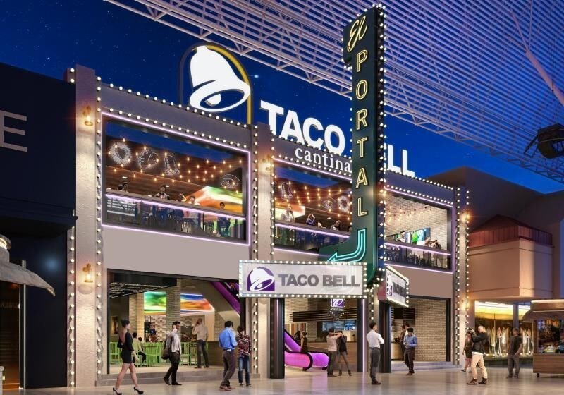 Slated for a 2019 opening, the 6,000 square foot Taco Bell location would take over a portion of the former El Portal Theatre which closed in the late 1970's. The new Fremont Street restaurant will have an open-air design to it, similar to the flagship restaurant, perfect for guests who enjoy indoor-outdoor dining experiences.