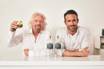 Sir Richard Branson And Ryan Reynolds Announce Partnership Between Virgin Atlantic And Aviation American Gin