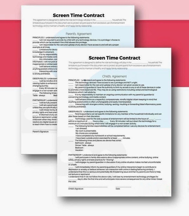 Screentime Contract