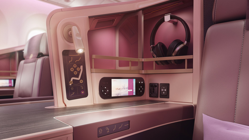 Panels and accessories for Juneyao's Business Class