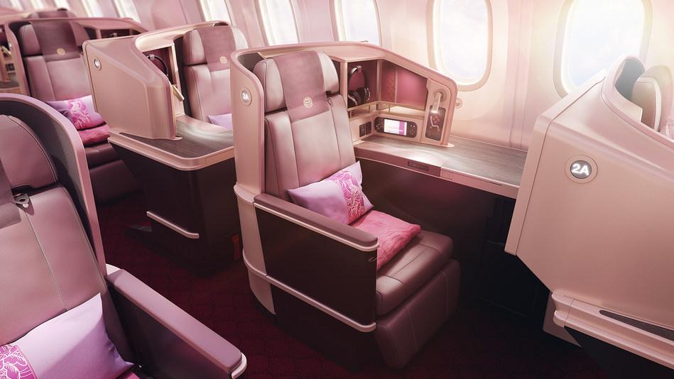 Thompson Vantage XL seats on Juneyao Air Boeing 787