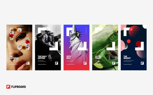 Five editorially curated franchises showcase the future of storytelling on Flipboard: The Culturist, The Daily Edition, Vote 2018, 10 for Today, and The Insight.