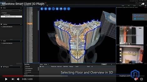 Single 3D-Map for 50-floor