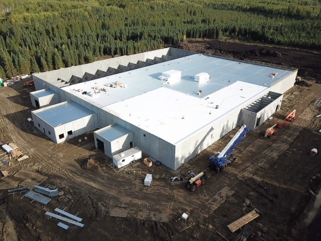 Aerial view of Acreage Pharms Phase 3 facility - September 2018. (CNW Group/Invictus MD Strategies)
