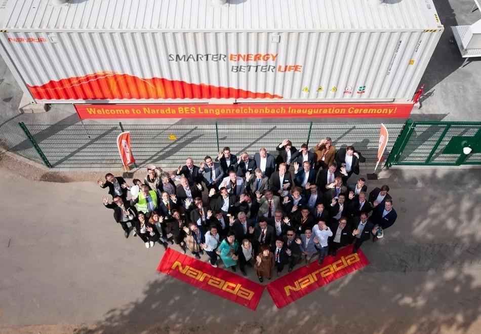 Equipe e convidados da Narada, Mitnetz e Upside (PRNewsfoto/Narada Power Source Co.,Ltd)