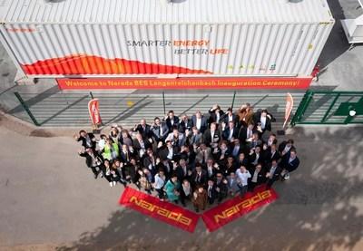 Narada, Mitnetz, Upside staff and guests (PRNewsfoto/Narada Power Source Co.,Ltd)
