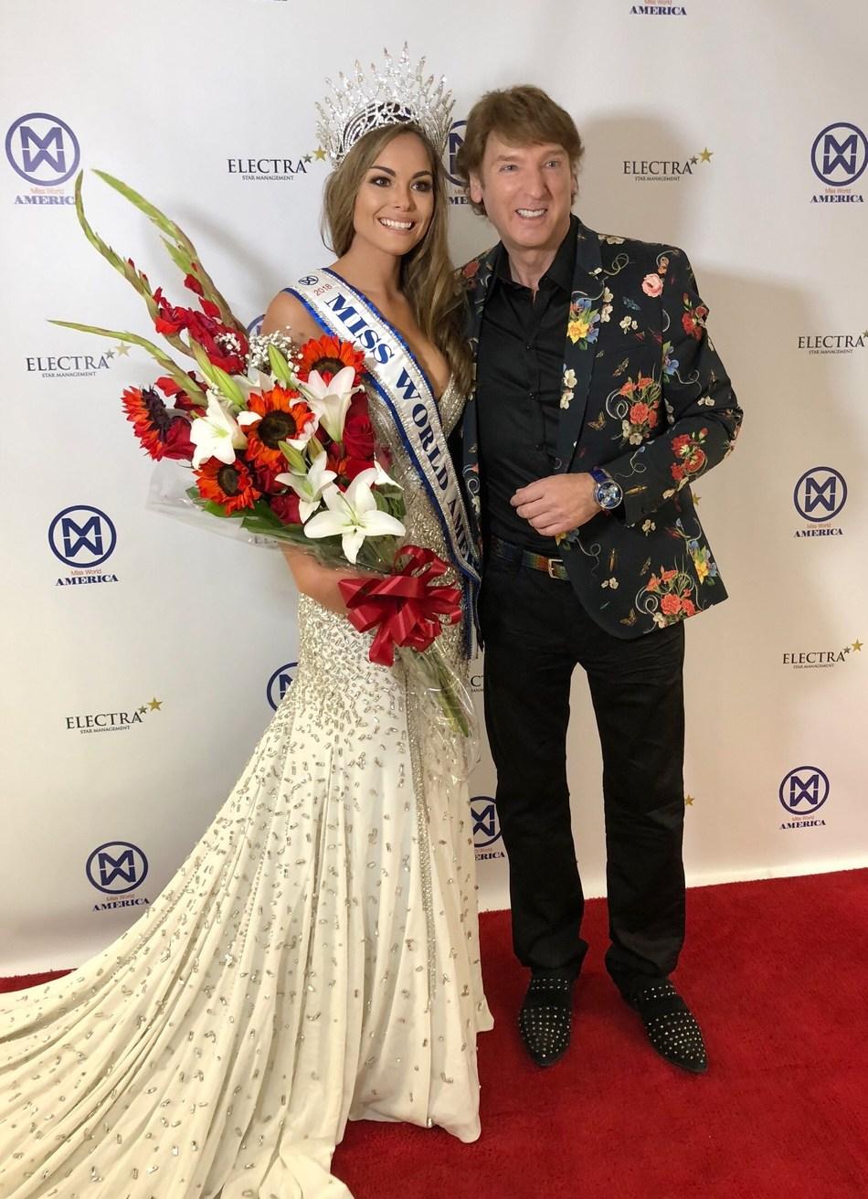 Marisa Butler, Miss World America 2018, and Michael Blakey, Miss World America National Director