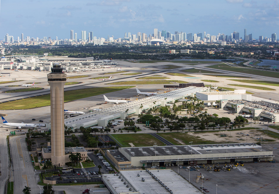 Aerial view of Miami International Airport.