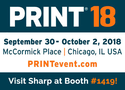 Sharp To Showcase Latest Pro Series Color Document Systems At PRINT 18