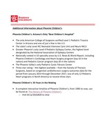 Phoenix Children's Celebrates Milestone Anniversary