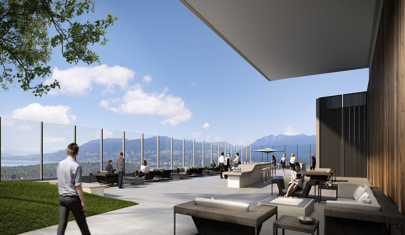The roof-top patio is available to all of the buildings tenants; soaring 530 feet in the air, it will offer the finest views in Vancouver (CNW Group/Oxford Properties Group Inc.)