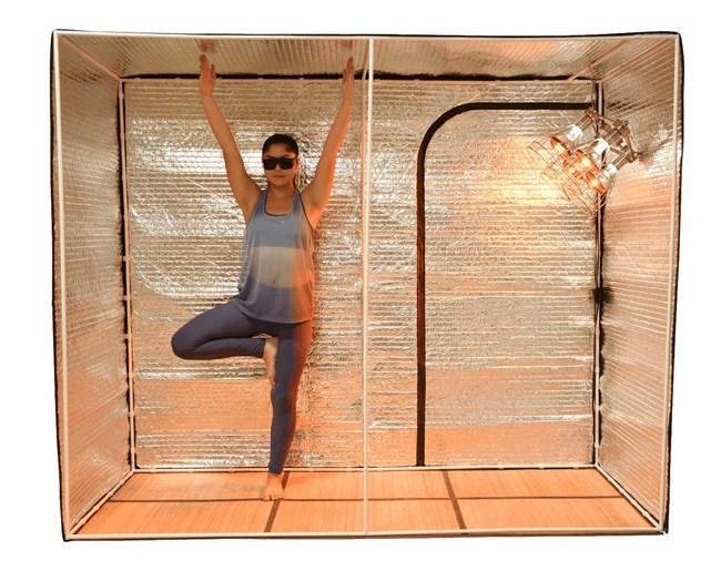 Hot Yoga Studio Radiant Tent Demonstration with Sauna Fix