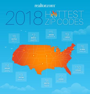 Hottest ZIP codes map