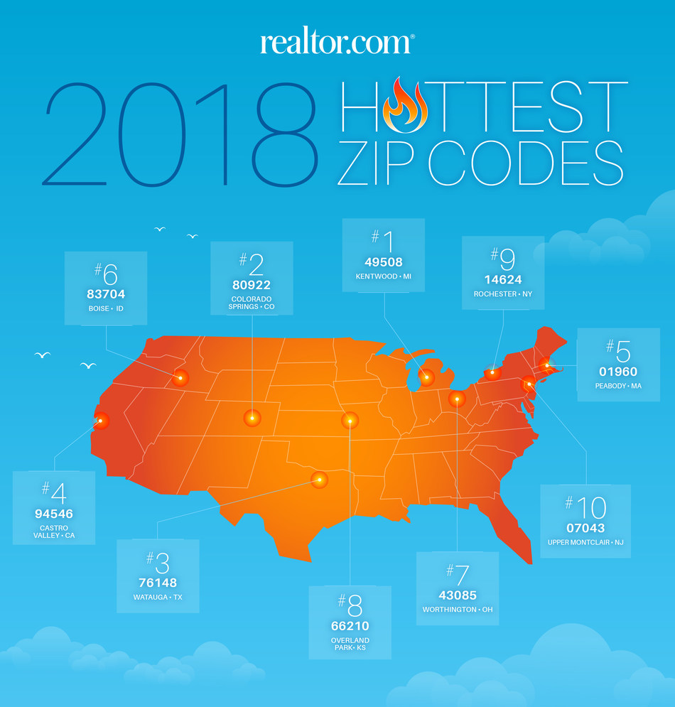 Hottest ZIP codes map