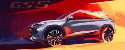 El nuevo GS5 SUV de GAC Motor (PRNewsfoto/GAC Motor)