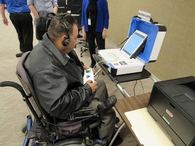 Voters with disabilities were invited to evaluate Verity's accessibility features.