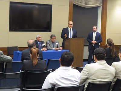 From left: Mr. Abdulsalam Mused (STC, Foreign Minister), Dr. Walid Phares (Fox News) and Daniel Faraci (Director, Grassroots P.C. LLC) at Capitol Hill Briefing, Tuesday, September 25, 2018.