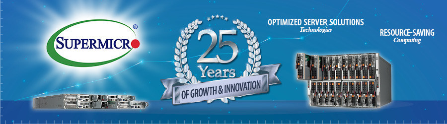Leading USA-based server & storage systems provider celebrates 25 years of growth & innovation