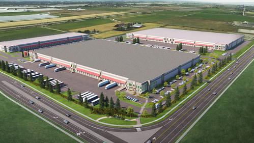 GWL Realty Advisors announced today that it has finalized a lease agreement with Amazon for the online retailer's newest Metro Vancouver fulfillment facility. Amazon will occupy 450,000 sq. ft. within Delta iPort, a new industrial park being developed by GWL Realty Advisors on behalf of project owner, the Healthcare of Ontario Pension Plan (HOOPP), on lands leased from the Tsawwassen First Nation (TFN). (CNW Group/GWL Realty Advisors)